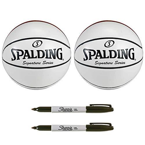 Spalding Signature Series Autograph Basketball Sharpie Bundle ()