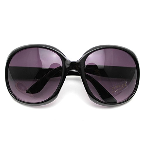 HuntGold Fashion Women's Sunglasses Retro Vintage Big Frame Goggles Shades - Big Shades Black