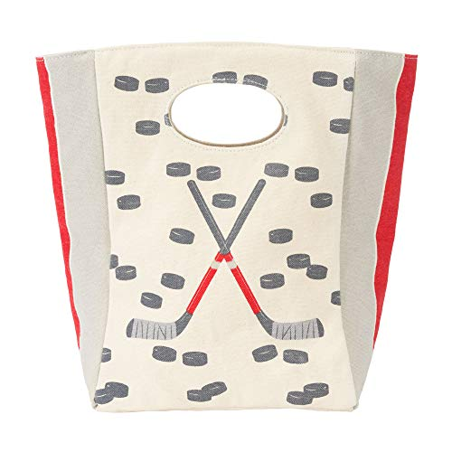Fluf Canvas Lunch Bag | Lunch Box for Men, Women, Kids | Organic Cotton Meal Tote with Built-In Handle | Hockey