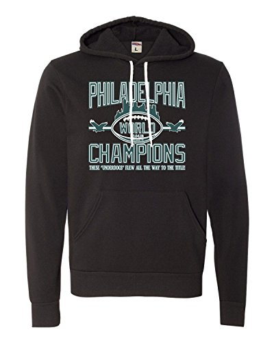 - XX-Large Black Adult Philadelphia World Champions Champs Deluxe Super Soft Sweatshirt Hoodie
