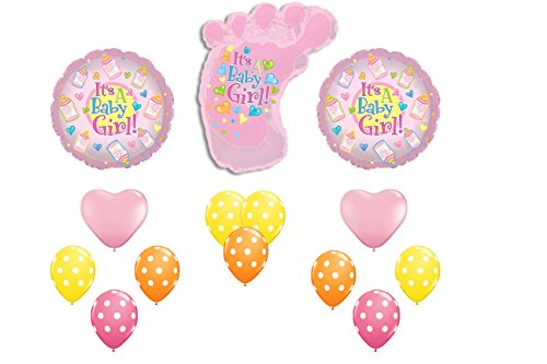 It's A Baby Girl Baby Reveal/Arrival Balloon Bouquet]()