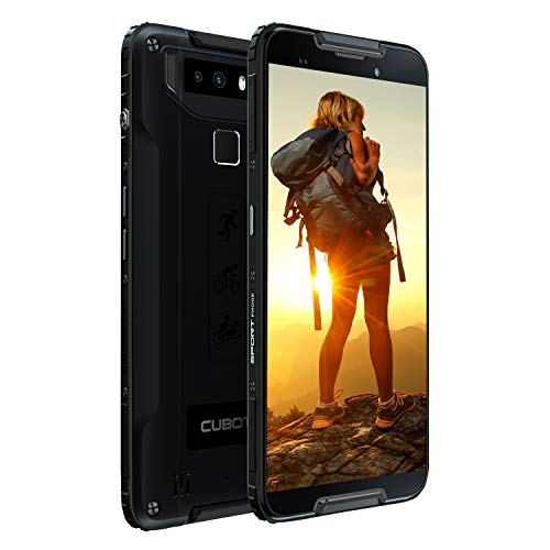 CUBOT Quest 5.5-inch Android 9.0 Pie Rugged Smartphone Unlocked, 4GB+64GB,4G Dual SIM, NFC,Gyroscope, 4000mAh Battery, 12MP Camera, IP68 Waterproof Shockproof, Dustproof (Black)