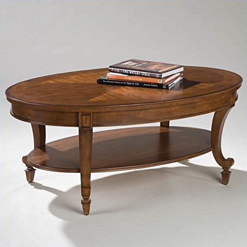 (Magnussen Aidan Wood Oval Cocktail Table)