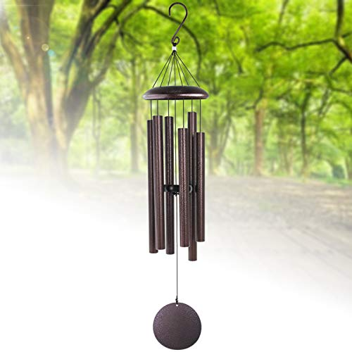 Large Wind Chimes Outdoor Deep Tone,Sympathy Wind Chimes Amazing Grace Outdoor with 6 Metal Tuned Tubes,Memorial Wind Chimes for Garden Balcony Patio and Home Decor,Bronze 36""