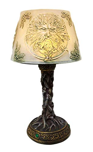 Ky & Co YK Ancient Deity Greenman Whispering Willows Mini LED Table Courtesy Lamp -