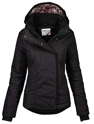 Sublevel Damen Herbst Übergangsjacke Winter warme Jacke Winterjacke Outdoor B167