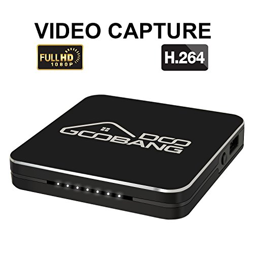 2018 Newest GooBang Doo HDVCB1 Mini 1080p HD Video Capture Box, PVR, DVR to USB flash drive. Record Xbox,PS4,Nintendo Switch Gameplay,Live TV,FPV drone,TV Box and more.Supports Microphone Audio Input