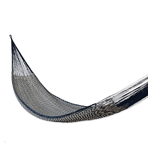 - NOVICA Nylon Blue Rope Hammock 'Ocean Waves' (Double)