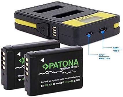 Patona Premium 2x Replacement Battery For Canon Nb 13l Camera Photo
