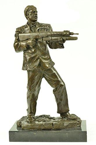 Beautiful Bronze Sculpture Art Deco Limited Edition Original Marble Scarface Tony Montana