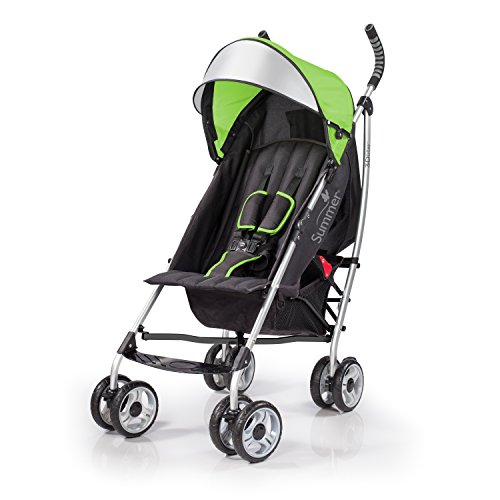 (Summer Infant 3Dlite Convenience Stroller, Tropical Green)