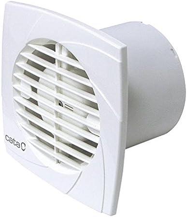 Cata Modelo B10 PLUS T | Ventilador con temporizador | Bajo Consumo aire alta Extractor de baño silencioso | [Clase de eficiencia energética B], 15 W, 41 Decibelios, Plástico, 2500 Velocidades, Blanco: Amazon.es: Grandes electrodomésticos