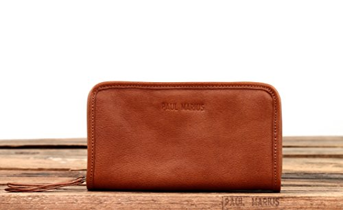 MON COMPAGNON Marrone portafoglio in pelle stile Vintage PAUL MARIUS