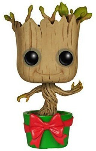 Marvel- Figura de Vinilo Holiday Dancing Groot, coleccion Guardians of The Galaxy (Funko 6196)