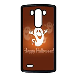 Happy Halloween Cute Ghost LG G3 Cell Phone Case Black Exquisite gift (SA_561337)