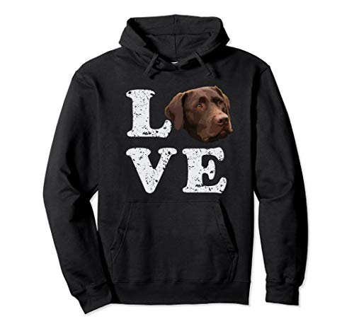I Love My Chocolate Lab Hoodie   Labrador Retriever Dog Gift