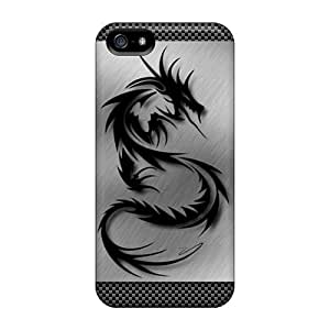 Awesome Phone Case Defender Tpu Hard Case Cover For Iphone 5/5s- Tribal Dragon by Maris's Diary