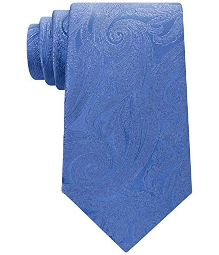 Silk Tie Blue Tonal (Michael Kors Men's One Tonal Paisley Silk Neck Tie Blue Not Applicable)