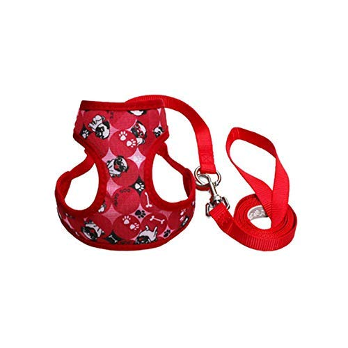 Yjkegjvdgf Dog, Dog Chain, Dog Chain, Small Dog/Middle Dog Waistcoat Style (Color : Red Puppy, Size : S-Small) ()