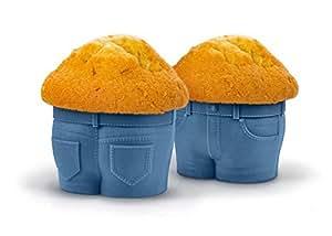 Nuevo diseño™ Upspirit reloj de silicona molde de silicona de grado alimenticio para hornear molde de la torta taza creativa de la forma de pantalones de 1 pieza