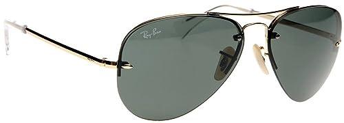 0fed892e6f4f1 New Ray Ban RB 3449 001 71 Gold Men Women Metal Sunglasses  Amazon ...