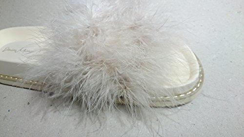 ciabattina con piume beige