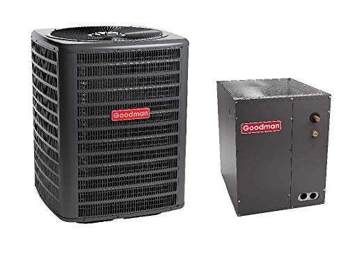 Goodman 3 Ton 13 Seer Air Conditioning System with Upflow/Downflow Evaporator Coil