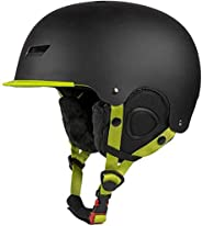 ASPORT Drift Snowboard & Ski Helmet,Winter Snow Helmet with Fleece Liner for Kids Youth Adult,Safety-Certi