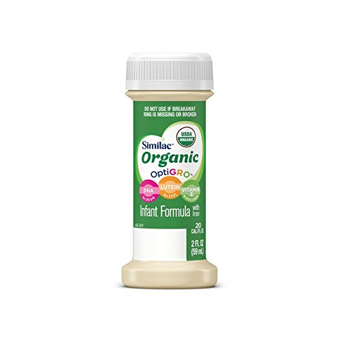 Similac Advance Organic Infant Baby Formula, 48 Bottles, 2-Fl Oz, Ready to Feed