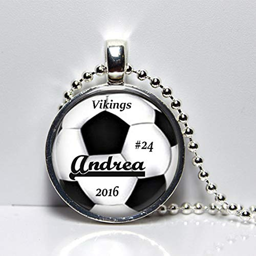 Trophy Soccer Trophy - Soccer Trophy Personalized Soccer Necklace or Key Chain, Girls Soccer Team Pendant, Boys Soccer Team Gift