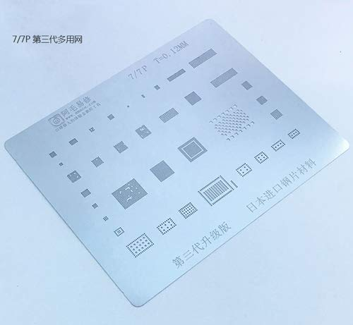 1 piece Japan Steel IC Chip BGA Reballing Stencil Kits Set Solder Template for iPhone X 8 8P 7 7P 6S 6 6P Motherboard Soldering Net