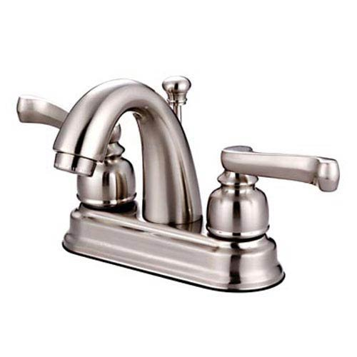 Royale Centerset Bathroom Faucet with Double Lever Handles Finish: Satin (Nickel Royale Double Handle)