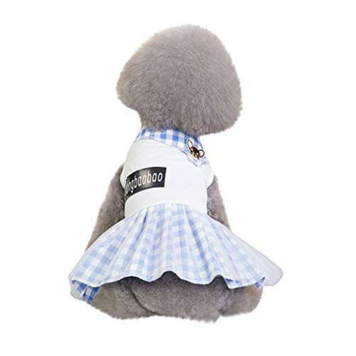 (〓COOlCCI〓Cute Sweet Pet Puppy Dog Apparel Short Skirt Dress Girl Puppy Clothes for Small Medium Dog Outfit White)