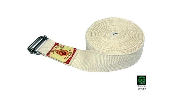 Correa de yoga tradicional Iyengar 100 % algodón orgánico ...