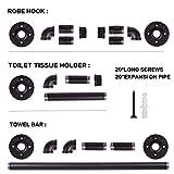 CUSEVE Industrial Pipe Towel Bar Set – Farmhouse