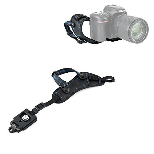 - JJC Deluxe DSLR Camera Hand Strap with Quick Release Plate for Canon EOS 5D Mark IV III 6D Mark II 7D Mark II 80D 70D 77D 60D 5Ds R 1Dx Mark II EOS Rebel T7i T6i T6s T5i T7 T6 SL3 SL2 & More DSLR