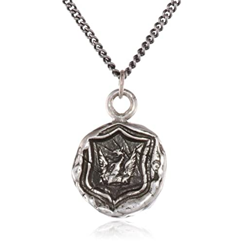 hot Pyrrha Sterling Silver Bravery and Protection Talisman Necklace big discount