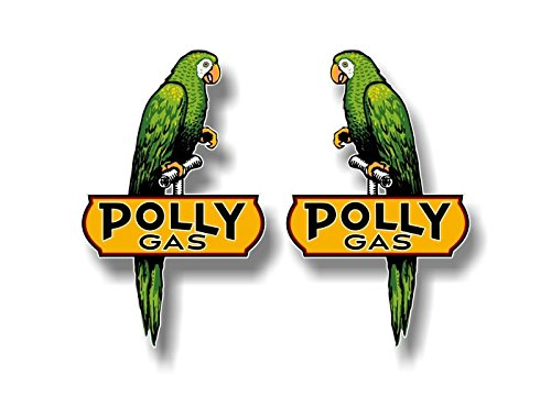 2 Vintage Polly Gasoline Left/Right Parrot 6