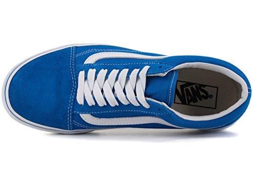 Vans Sk8-Hi - Zapatillas de skateboarding de ante para hombre Blue Suede/Canvas