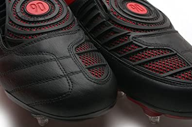 purchase cheap 707c0 5738e Total 90 Laser II K Kids SG Football Boots Black White Comet Red -