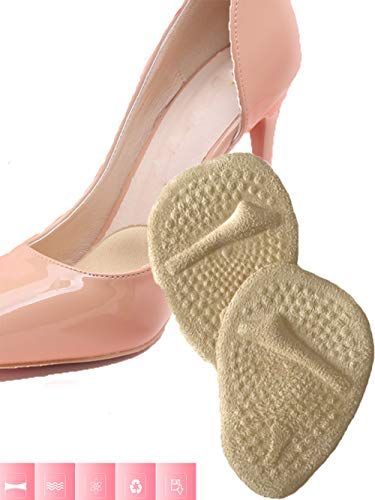 Ball of Foot Cushions for High Heel - Soft Gel Insole- Metatarsal Pads- Shoe Inserts - Foot Pain Relief for Mortons Neuroma Callus Metatarsal Bunion Forefoot Cushion