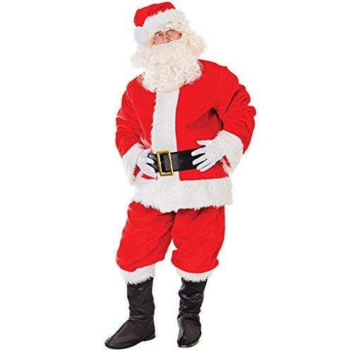 Viyor shop Man's Plush Santa Suit Adult Costume Plus (Plus Size Sally Costumes)