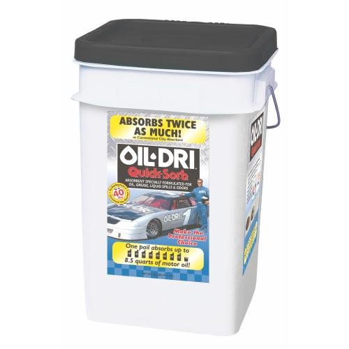 Oil-Dri I05000-G60 Quicksorb Fine Granular Clay Absorbent Bucket, 20 (Oil Absorbing Powder)