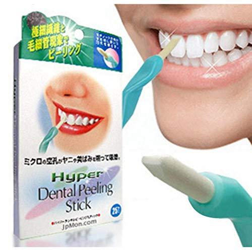Pro Nano Teeth Whitening Kit Natural Teeth Whitener System Tool Kit 25 PCS Dental Peeling Stick Teeth Care Beauty Clean Teeth Whitening Descaling Eraser with Teeth whitening Stick Onkessy