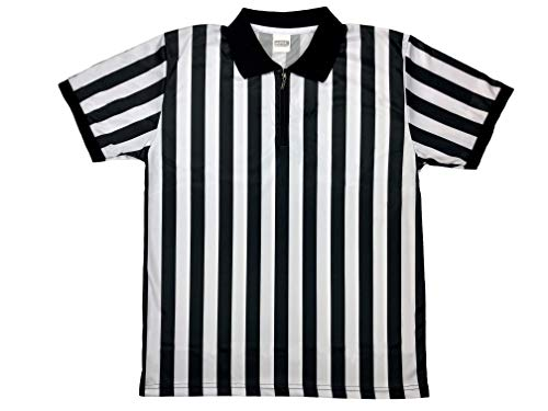 Football Jersey Style Pro - Murray Sporting Goods Men's Official Pro-Style Collared Referee Shirt, Officiating Jersey for Basketball, Football, Soccer (X-Large)