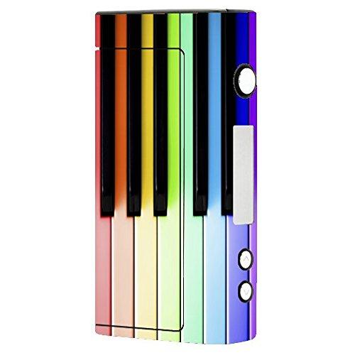 (Decal Sticker Skin WRAP - Sigelei Fuchai 200W TC - Fun Rainbow Piano Keys Print)