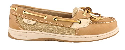 Sperry Top-Sider Women's Angelfish Sparkle Boat Shoe, Linen, 7.5 M (Sperry Sparkle Women)