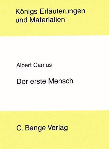 Königs Erläuterungen und Materialien, Bd.399, Der erste Mensch