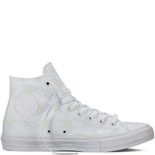 Converse Hi Top Bianco / Argento