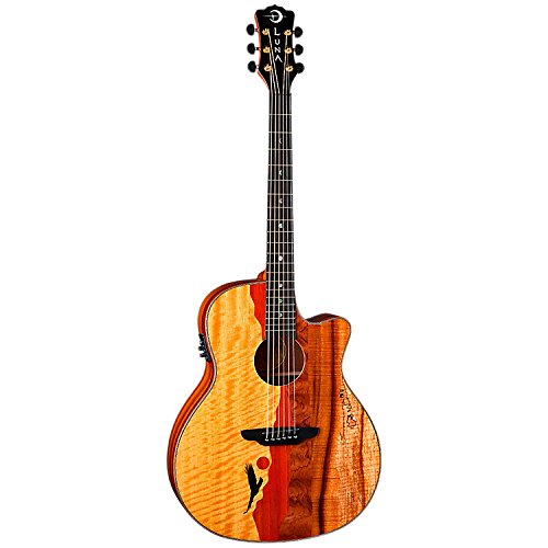Luna VISTAEAGLE Luna Acoustic/Electric Guitar, Tropical Wood